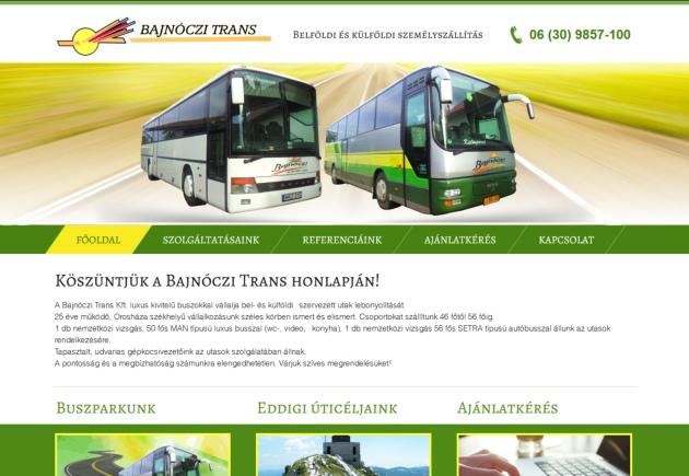 belföldi és külföldi buszos személyszállítás